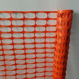 Temporary Orange Roadway Safety Fence