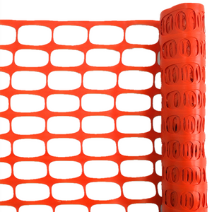 outdoor temporary orange HDPE plastic safety mesh fence for construction