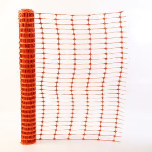 PE orange weatherproof flexible plastic traffic road safety mesh fence for construction net